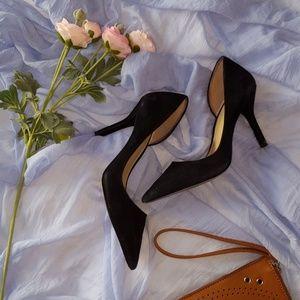 Michael Kors suede black heels